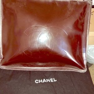 Authentic Chanel leather brown handbag.
